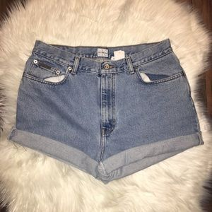 Calvin Klein High Waisted Mom Jean Shorts